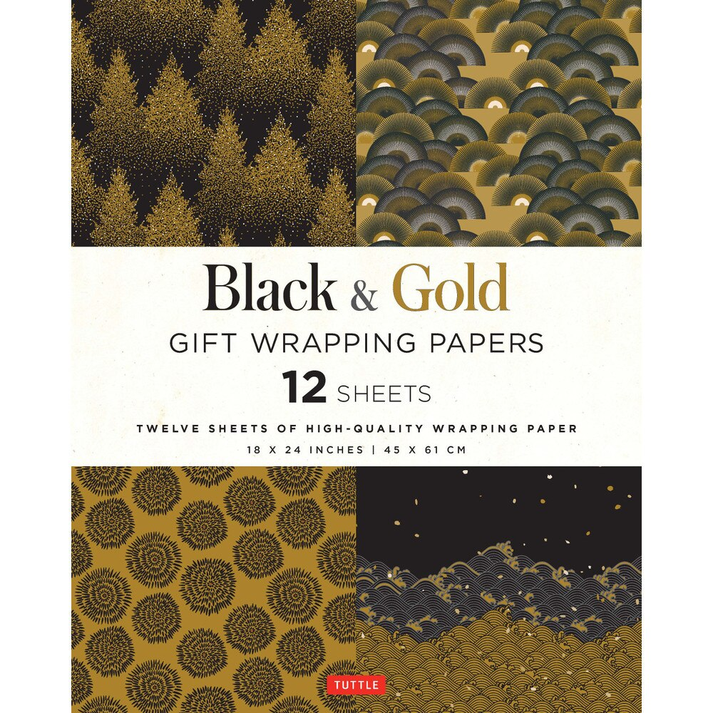 Black & Gold Gift Wrapping Paper