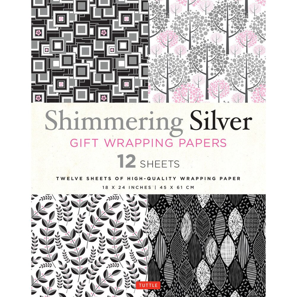 Shimmering Silver Gift Wrapping Paper