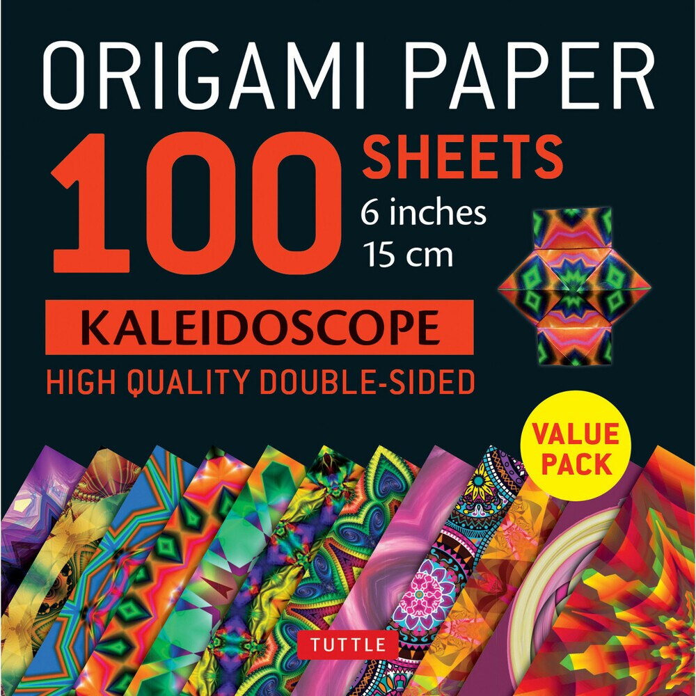 100 Sheets Kaleidoscope Patterns Origami Paper
