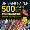 500 Sheets Japanese Washi Patterns Origami Paper