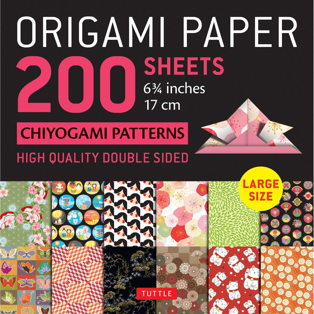 200 Sheets Chiyogami Patterns Origami Paper