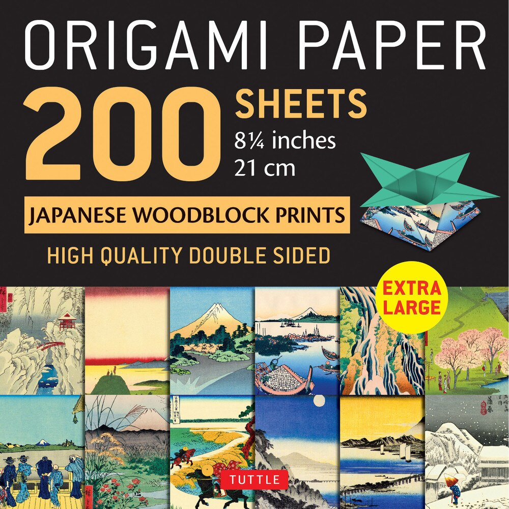 200 Sheets Japanese Woodblock Prints Patterns Origami Paper