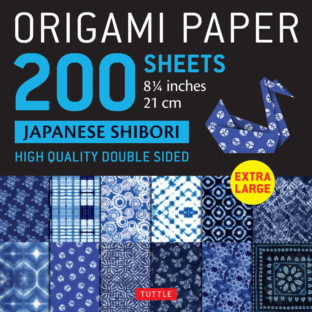 200 Sheets Japanese Shibori Patterns Origami Paper