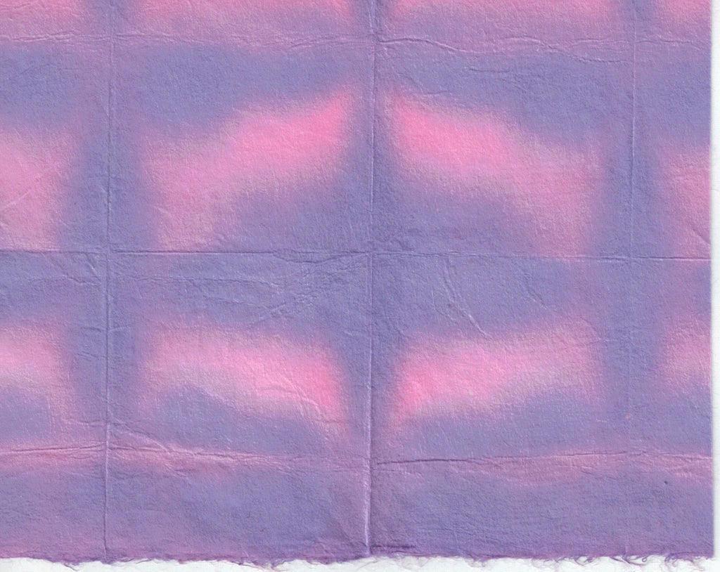 Itajime Shibori Window - Purple Pink