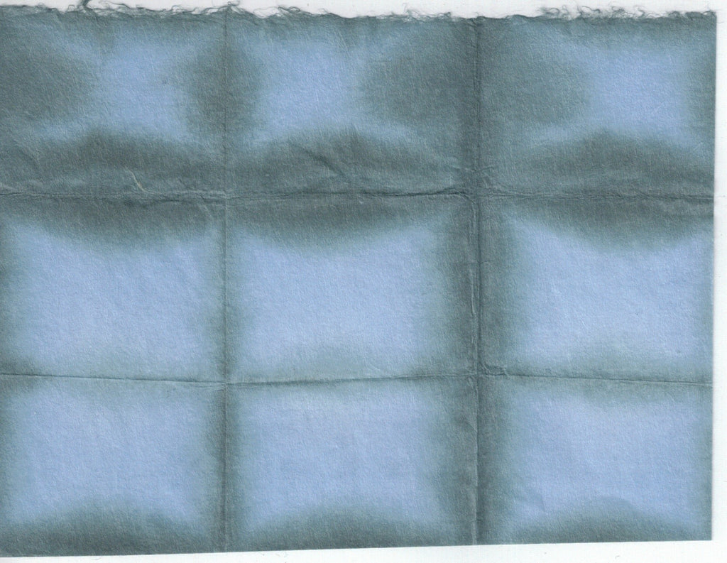 Itajime Shibori Window - Gray Blue