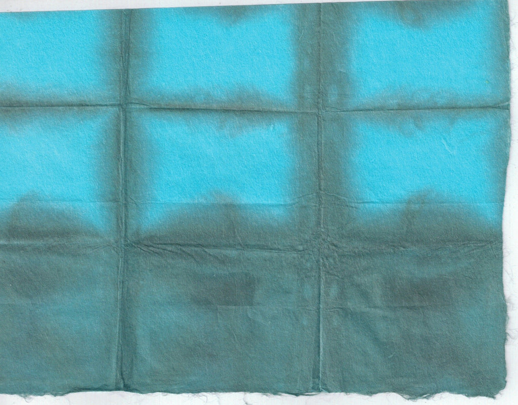 Itajime Shibori Window - Forest Turquoise