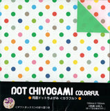 Dot Chiyogami Colorful Double-sided Origami Paper