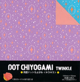 Dot Chiyogami Twinkle Stars Double-sided Origami Paper