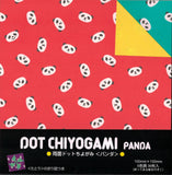 Dot Chiyogami Panda Double-sided Origami Paper