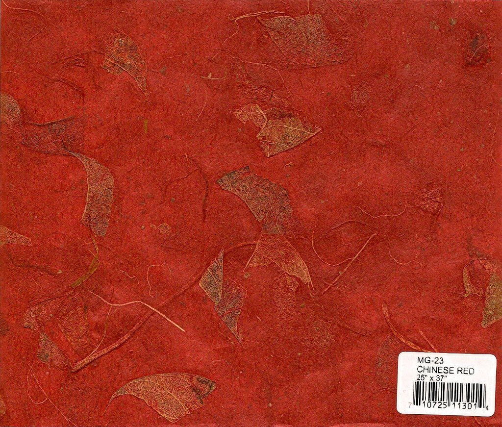 Mango Leaf Paper - Chinese Red