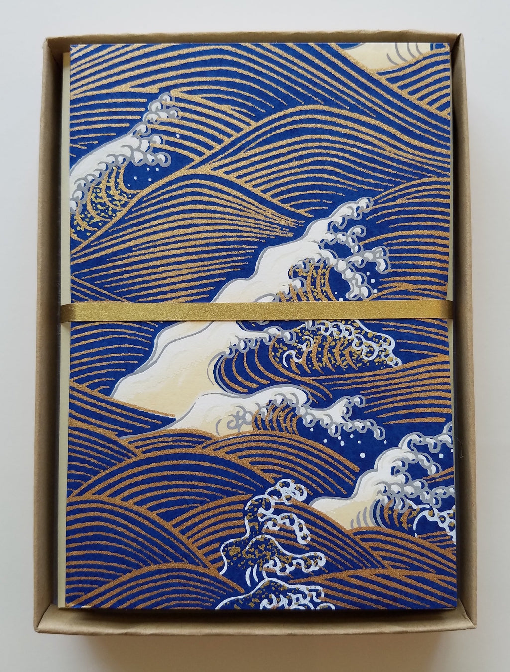 Handmade Boxed Yuzen Cards - Wave