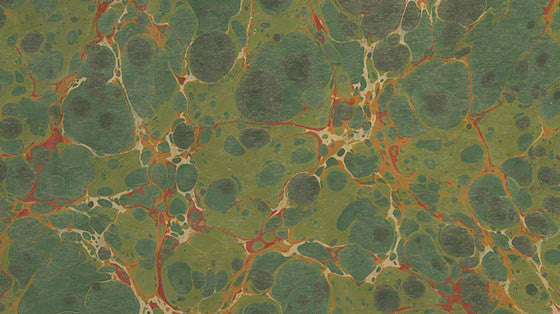 Italian Marble Stone Pattern - Greens, Orange