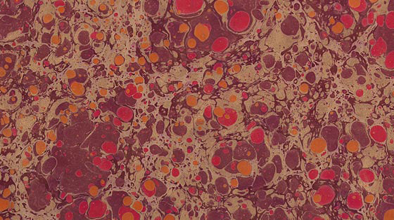 Italian Marble Stone Pattern - Reds, Gold