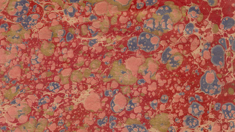 Italian Marble Stone Pattern - Reds, Blue, Gold