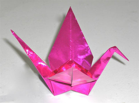 Pink Foil Origami Paper