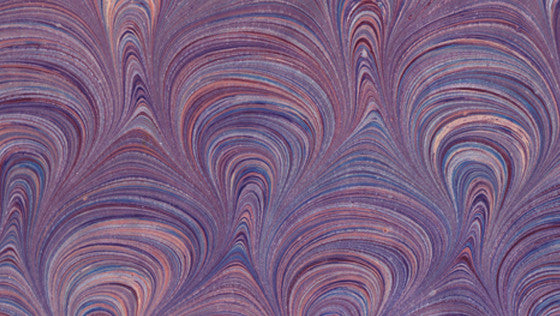 Italian Marble Peacock Loop Pattern - Purple, Silver