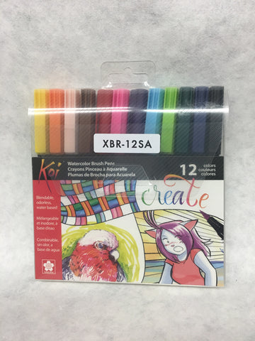 Koi Watercolor Brush Pen 12 Set
