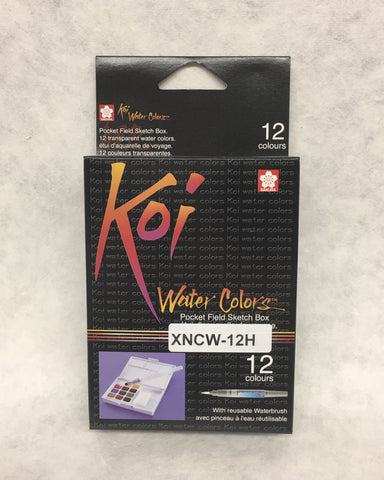 Koi Water Colors Field Sketch 12 Box