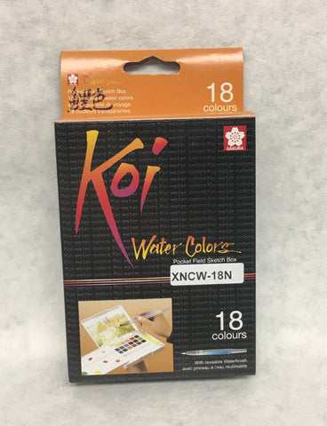 Koi Water Colors Field Sketch 18 Box