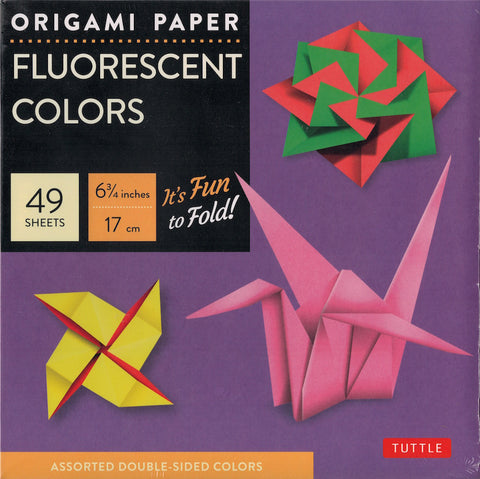 Fluorescent Colors Origami Paper