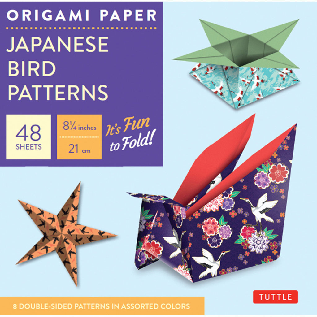 Origami prints tagged styledouble sided page 2 paper japanese bird patterns origami paper jeuxipadfo Images