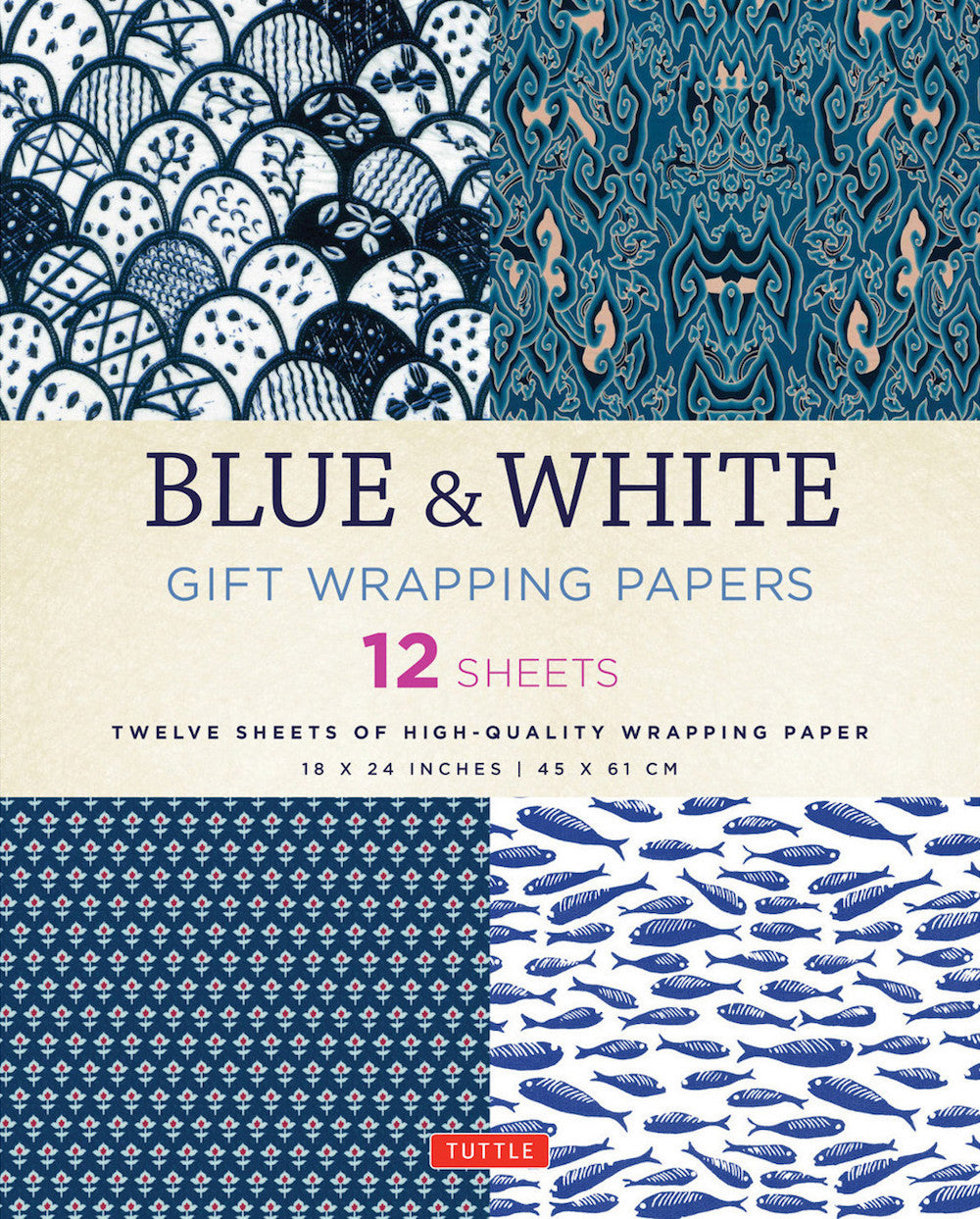 Blue & White Gift Wrapping Paper