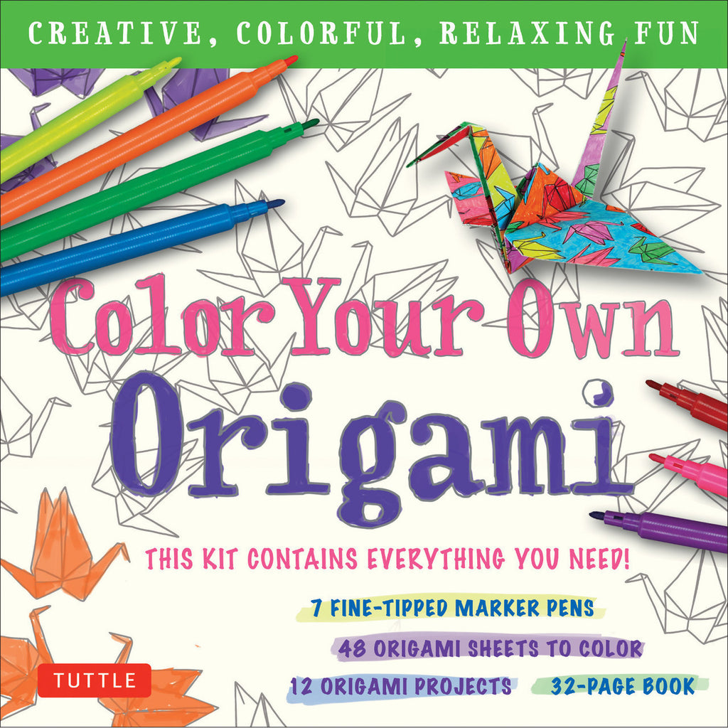 Color Your Own Origami Kit