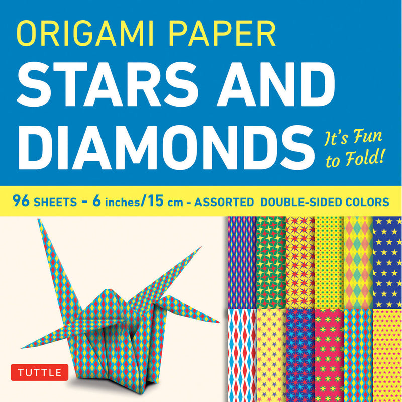 Stars and Diamonds Print Origami Paper