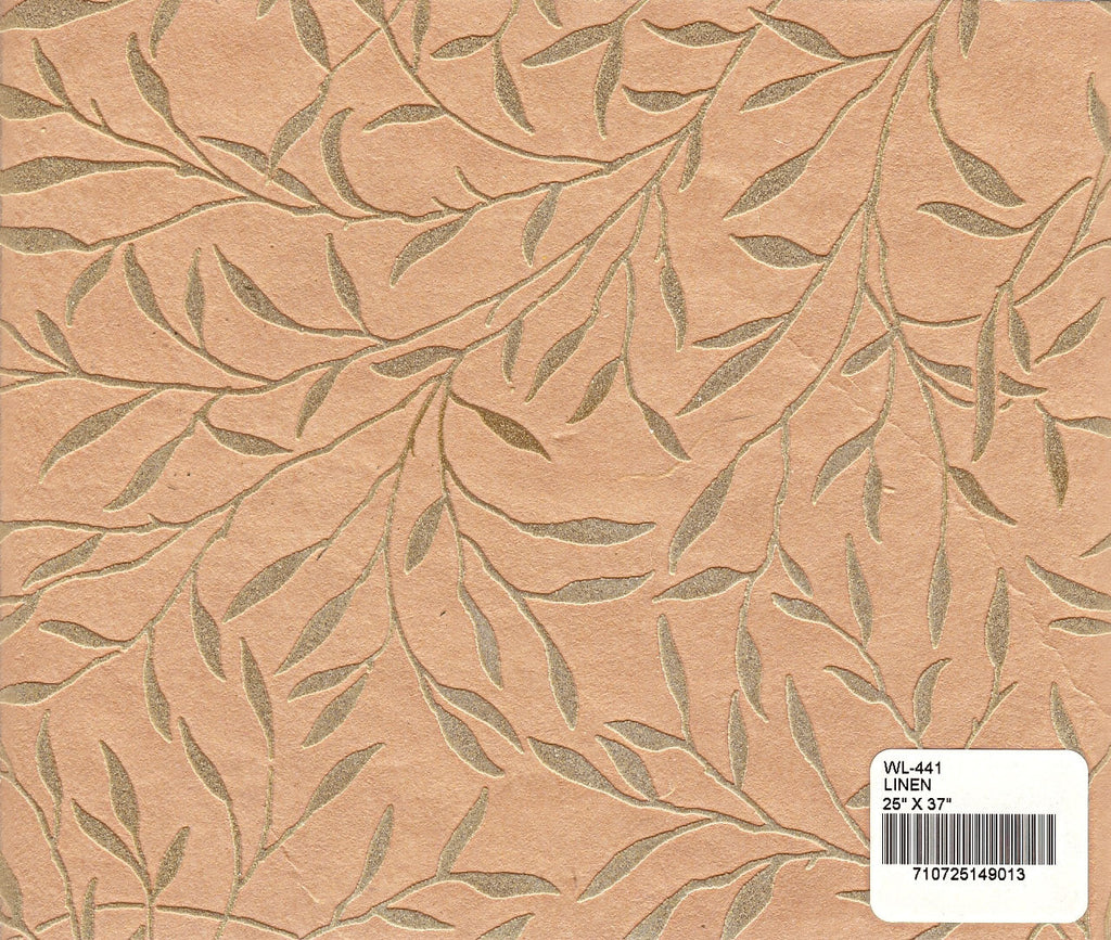 Flocked Willow Paper - Linen