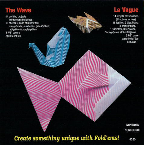 Wave Print Origami Paper