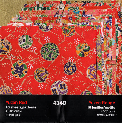 Yuzen Red Assortment Origami Paper