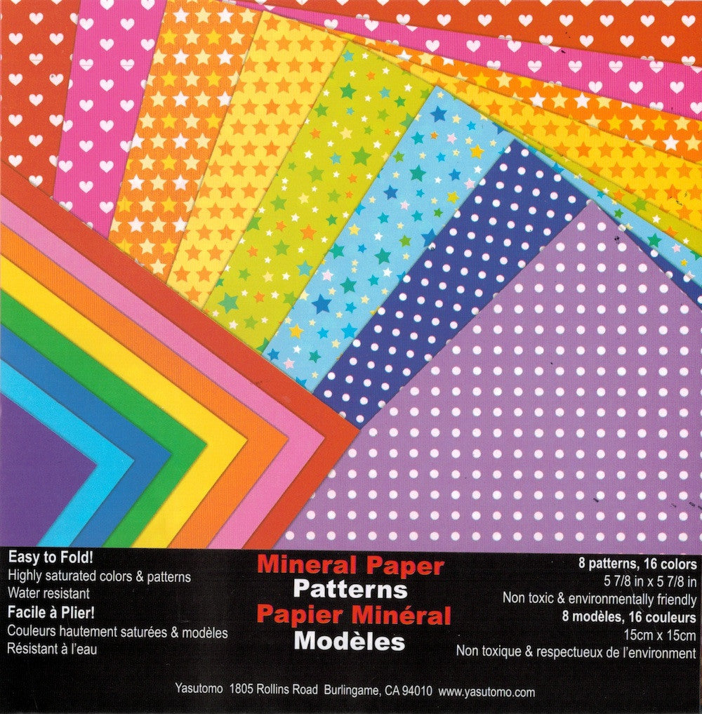 Mineral Double-sided Origami Paper - Patterns