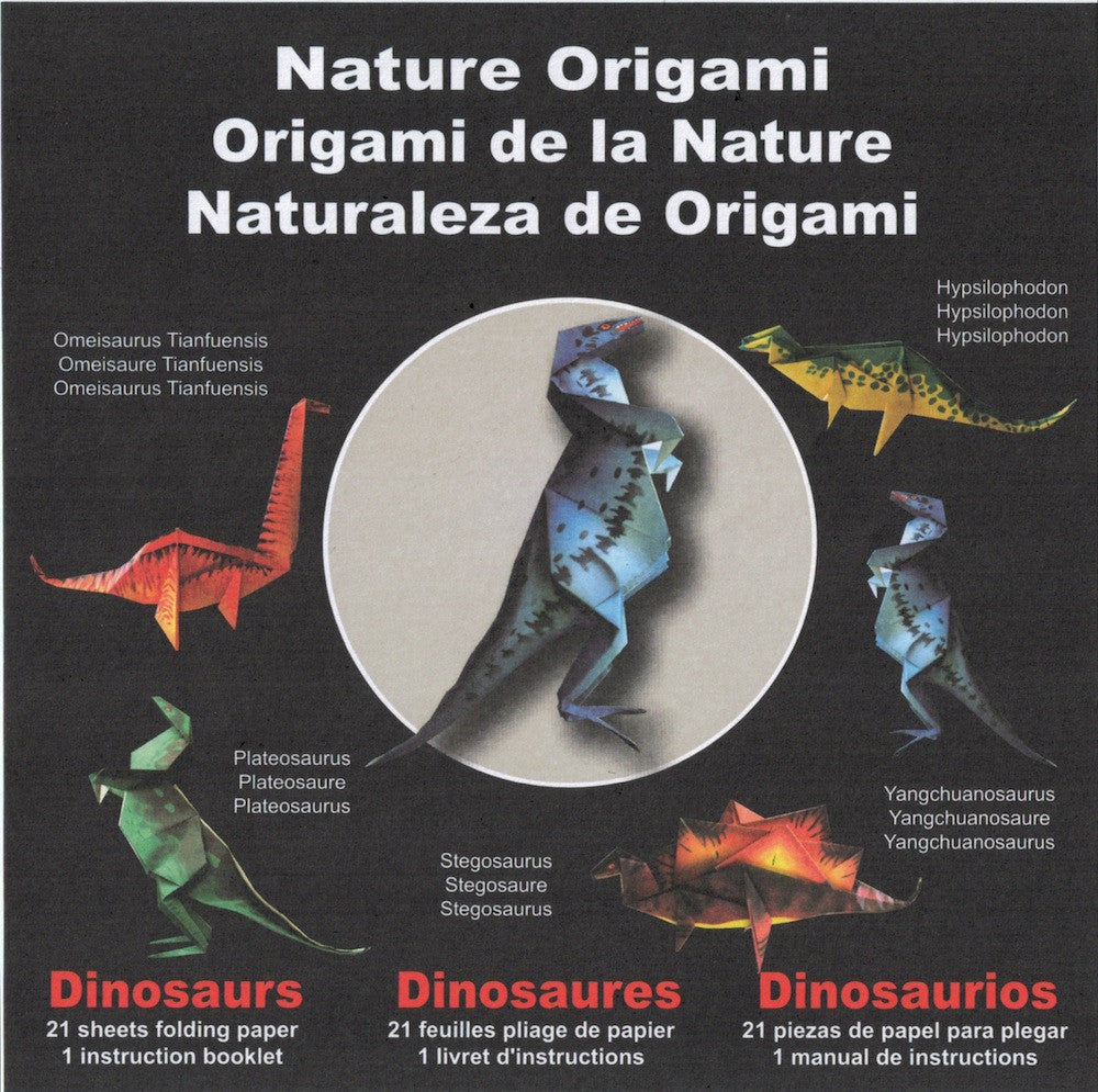 Nature Origami Dinosaurs Paper Tree The Store Dinosaur Diagrams