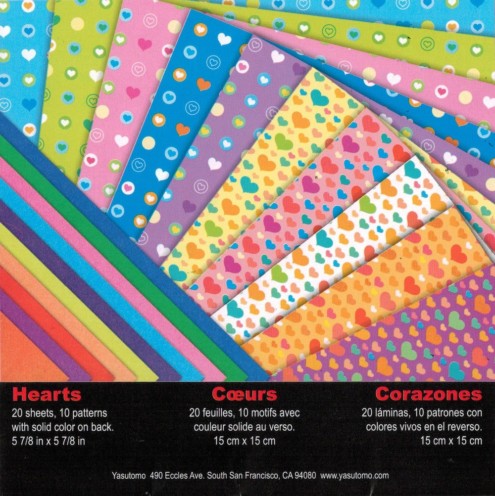 Heart Print Double-sided Origami Paper