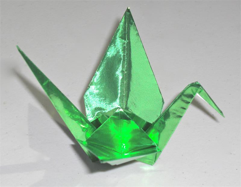 Light Green Foil Origami Paper