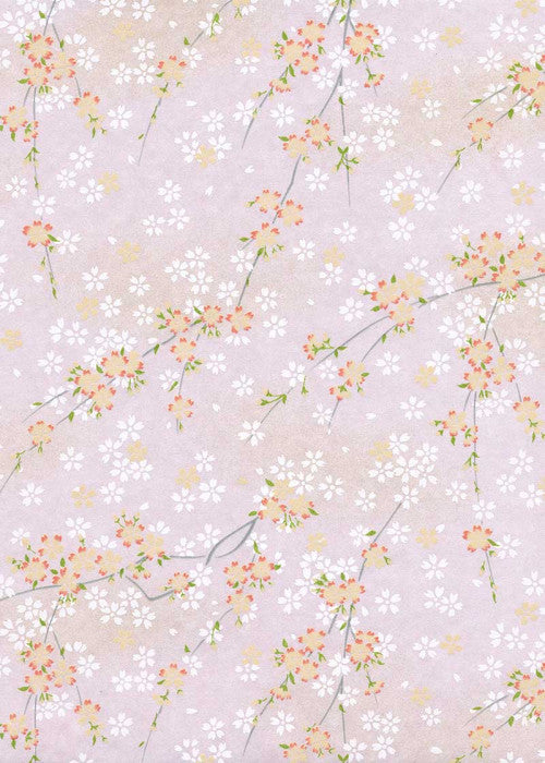 Pink and White Floral Chiyogami
