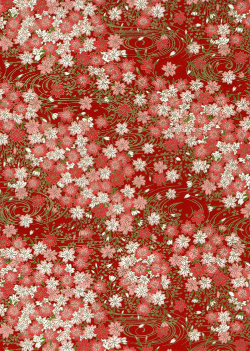 Red Pink Blossoms Chiyogami
