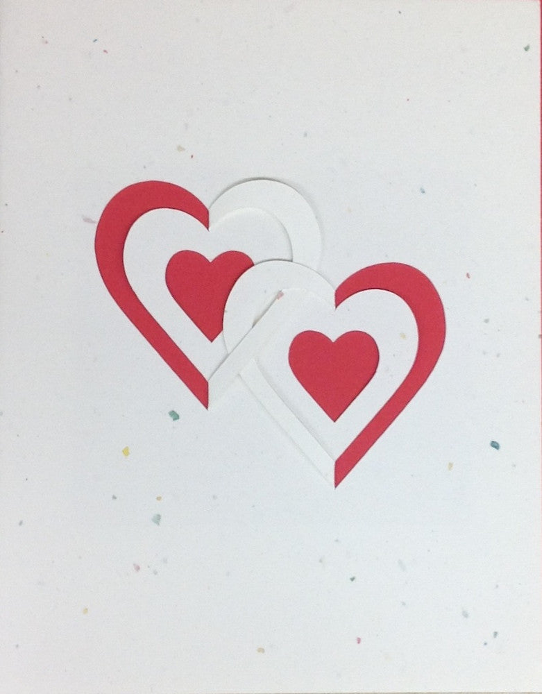 Double Heart Card