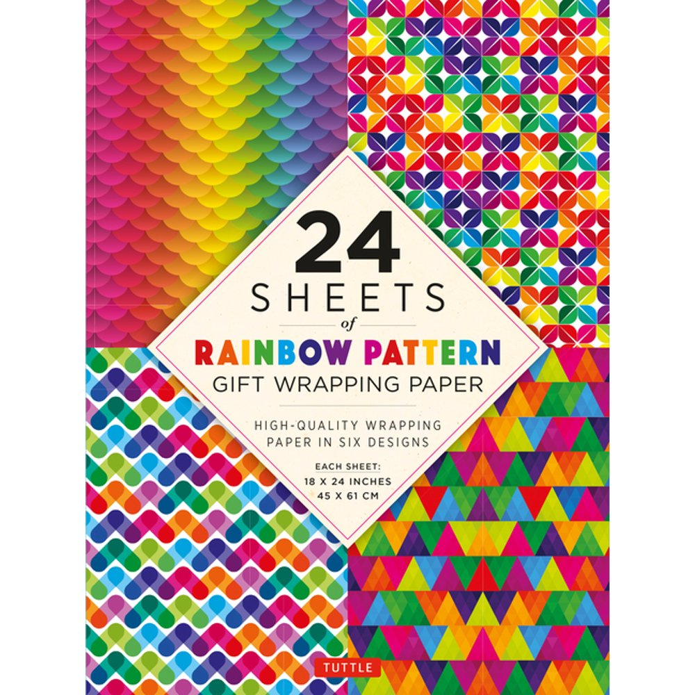 24 Sheet Rainbow Pattens Gift Wrapping Paper