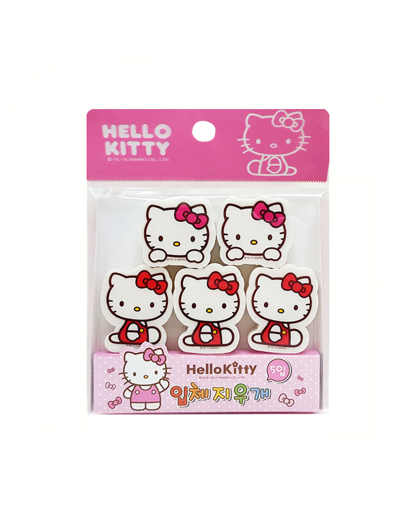 Hello Kitty 5 Piece Eraser Set