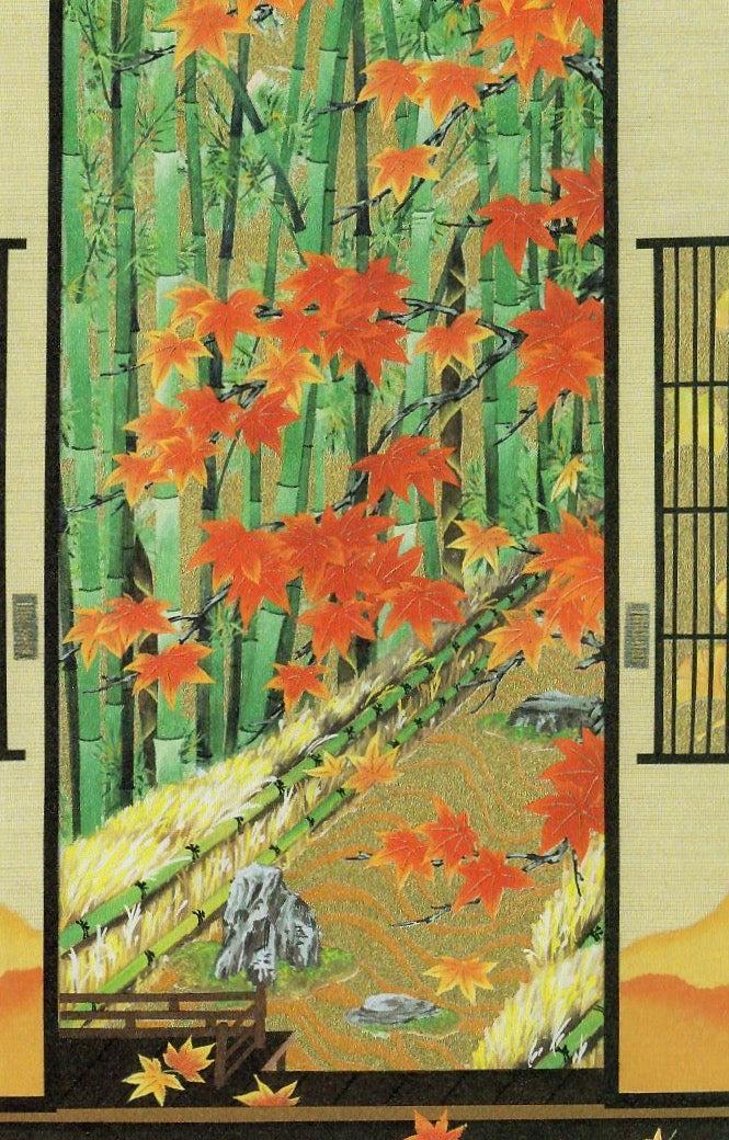 Autumn Bamboo Garden Card