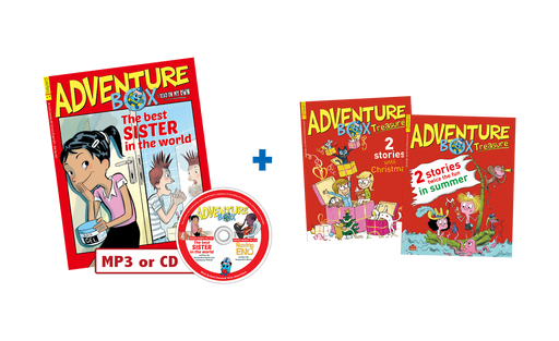 AdventureBox with Audio + 2 AdventureBox Special Issues (Book Fair)