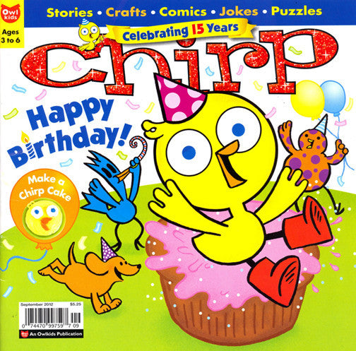 Chirp Magazine: ages 3-6 - Owlkids - Reading for kids and literacy resources for parents made fun. Magazines helping kids to learn. - 4