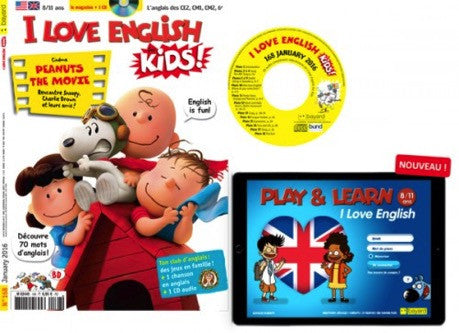 I Love English for kids + CD – Offre spéciale 6 mois