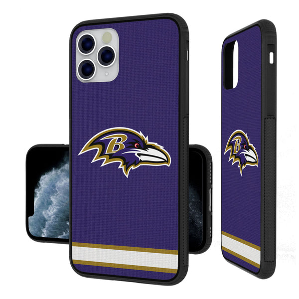 Baltimore Ravens Stripe iPhone 11 Pro Max Bumper Case