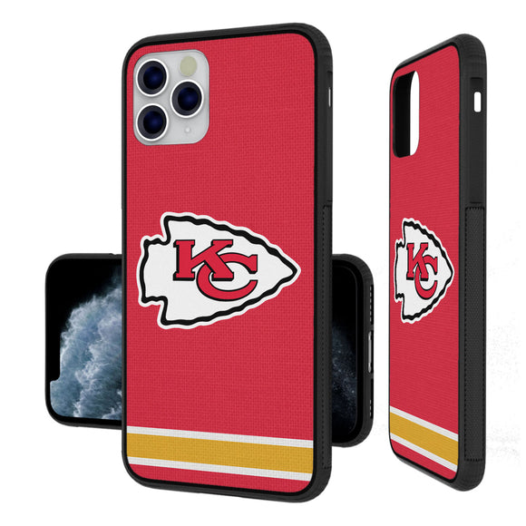 Kansas City Chiefs Stripe iPhone 11 Pro Max Bumper Case