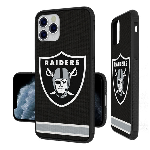 Oakland Raiders Stripe iPhone 11 Pro Max Bumper Case