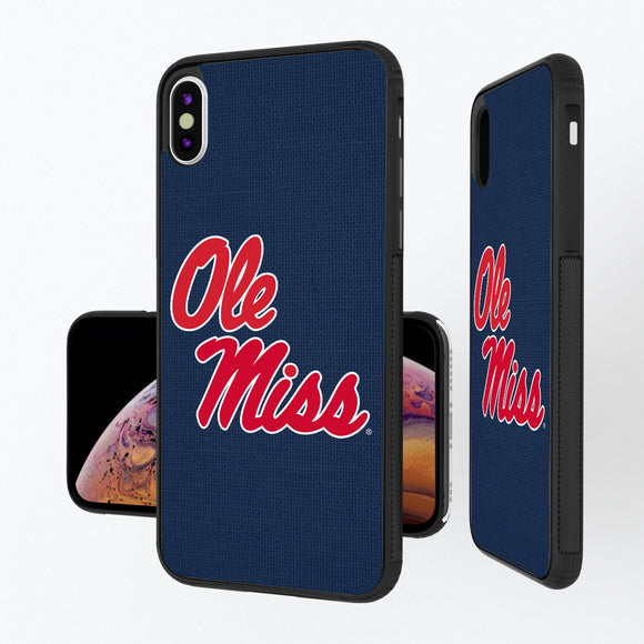 Mississippi Ole Miss Rebels Solid iPhone XS Max Bump Case