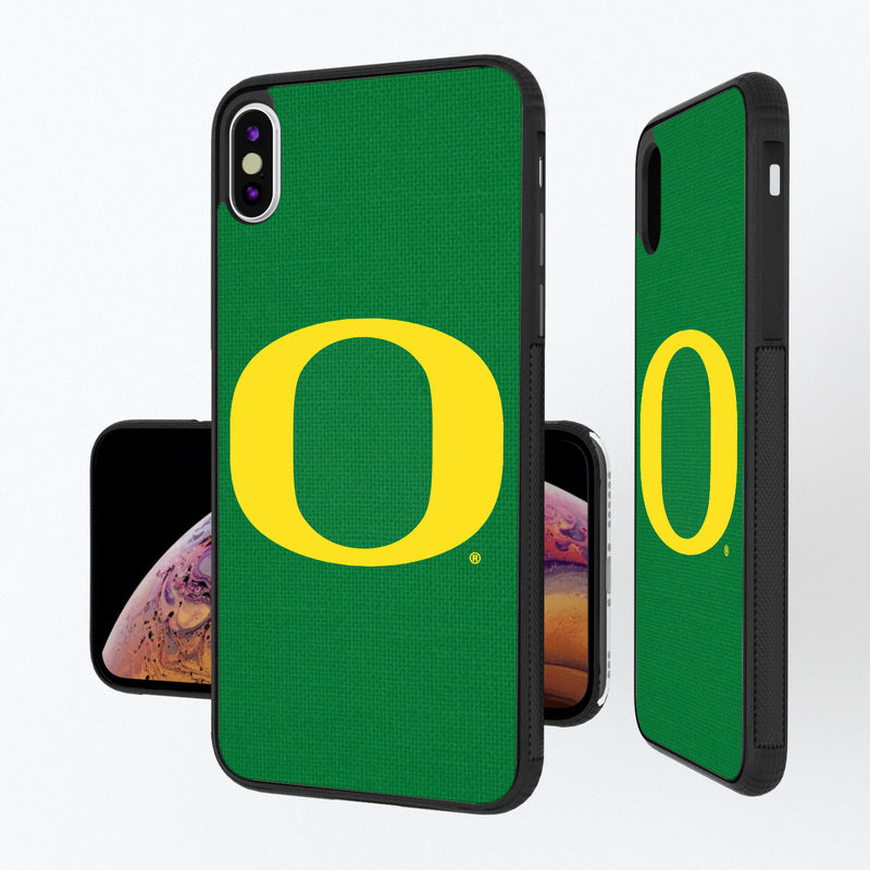 Oregon Ducks Solid iPhone XS Max Bump Case