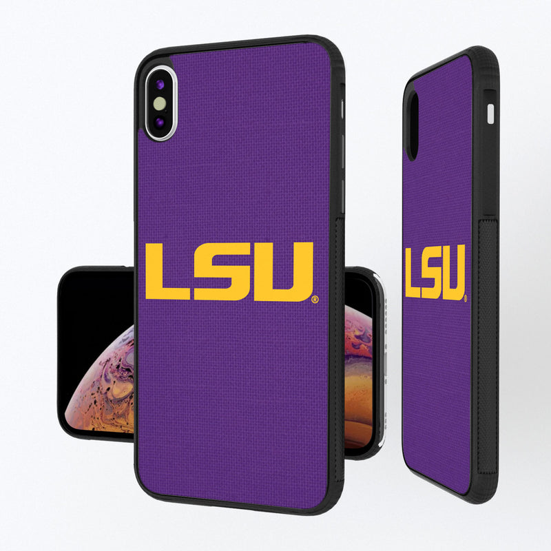 Louisiana State Tigers Solid iPhone XS Max Bump Case